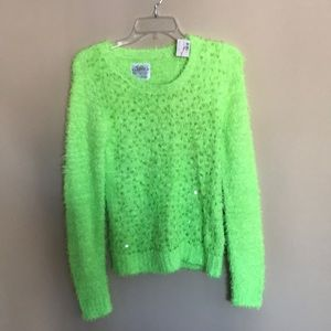 NWT Justice fuzzy sweater size 18 girls